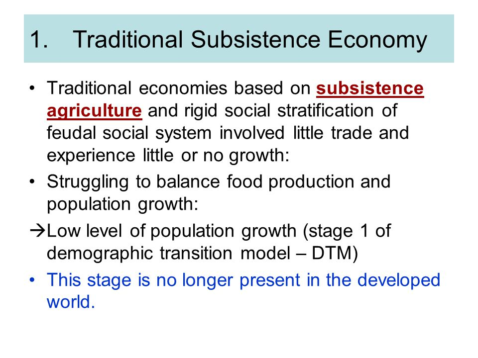Traditional Subsistence Economy
