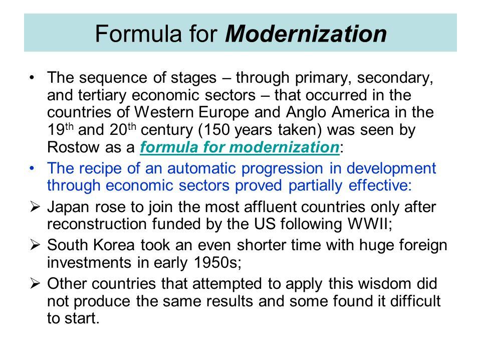 Formula for Modernization