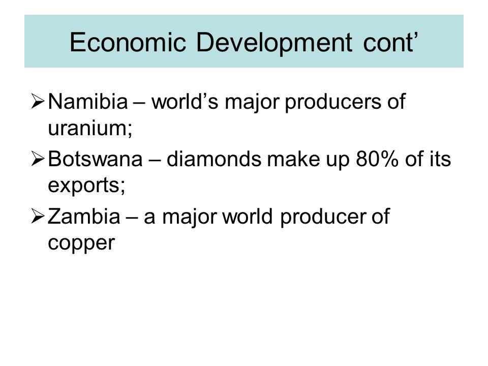 Economic Development cont'