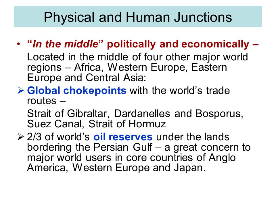 Physical and Human Junctions