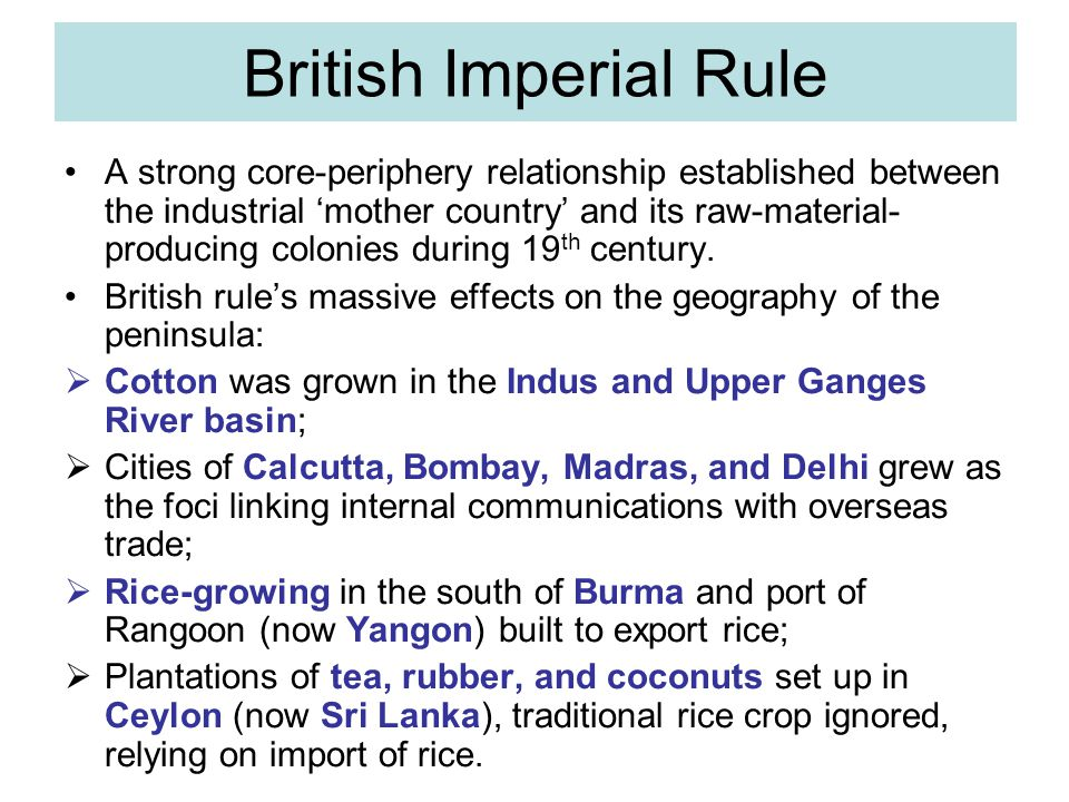 British Imperial Rule