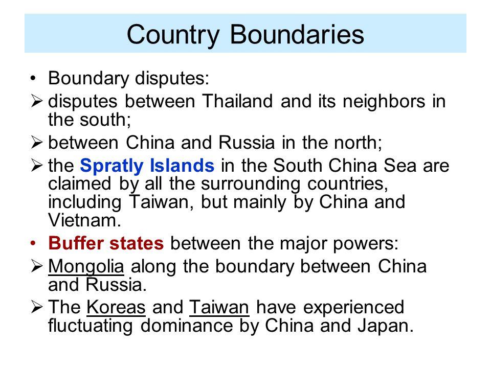 Country Boundaries Boundary disputes: