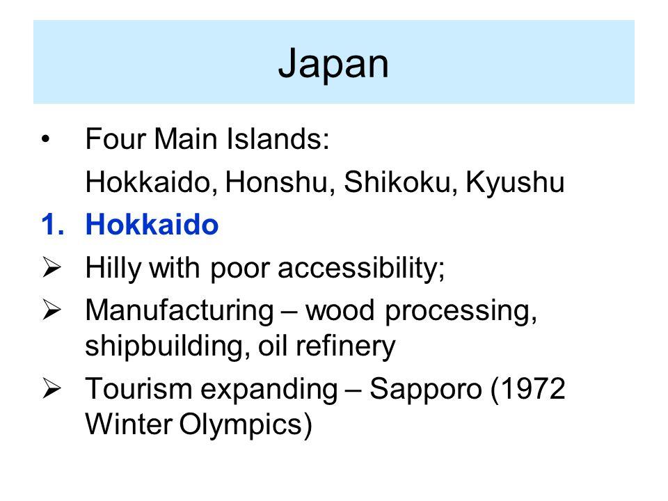 Japan Four Main Islands: Hokkaido, Honshu, Shikoku, Kyushu Hokkaido