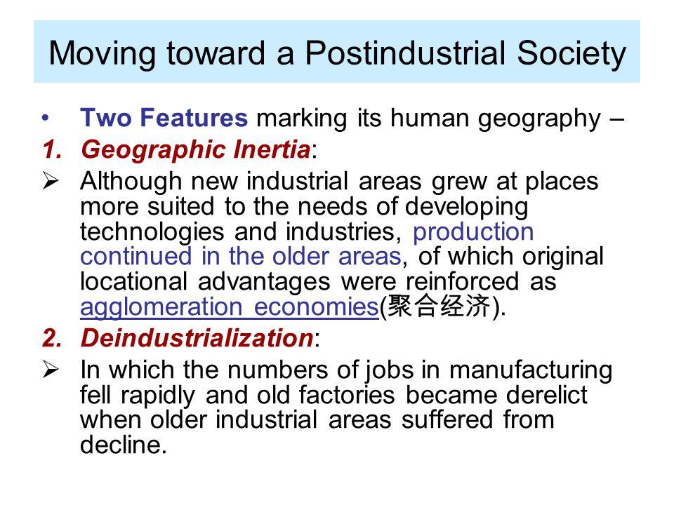 Moving toward a Postindustrial Society