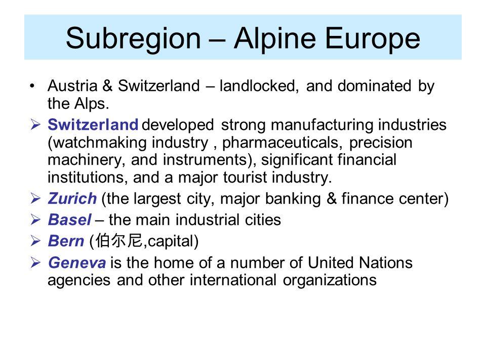 Subregion – Alpine Europe