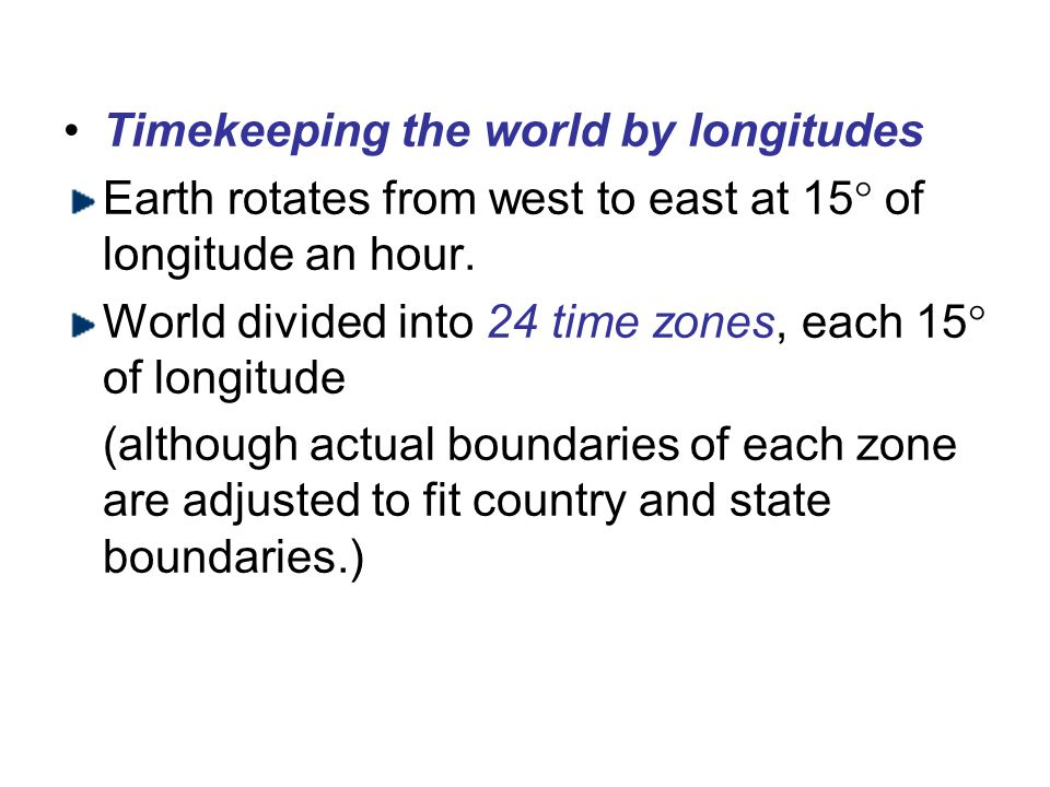 Timekeeping the world by longitudes