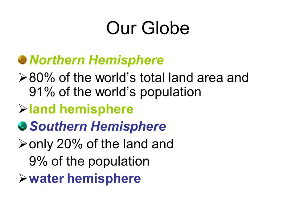 Our Globe Northern Hemisphere