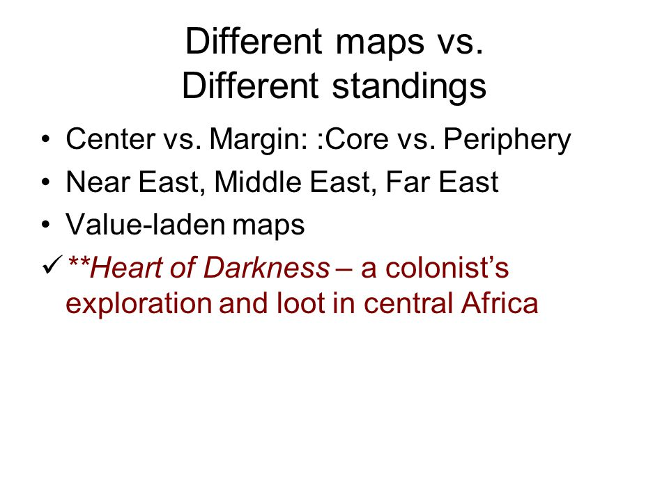 Different maps vs. Different standings