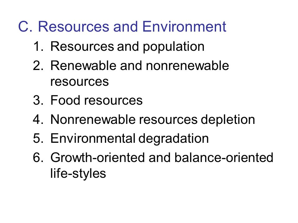 C. Resources and Environment