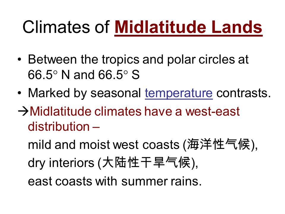 Climates of Midlatitude Lands