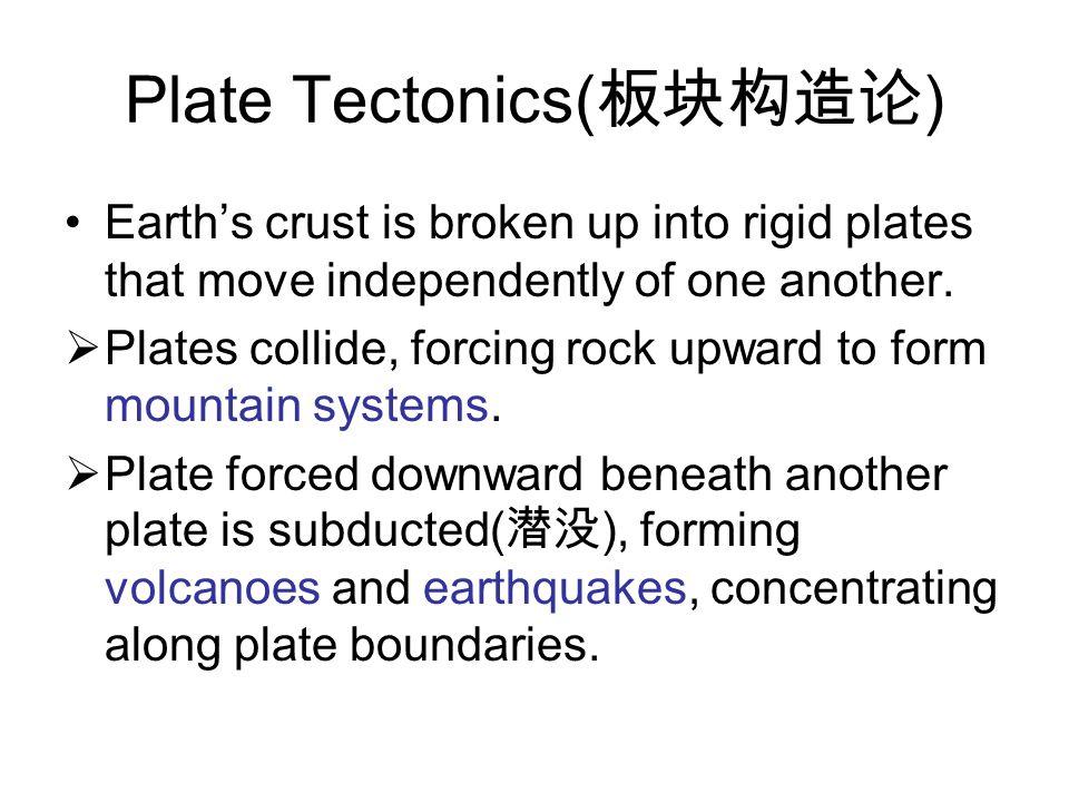 Plate Tectonics(板块构造论)