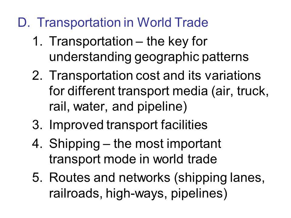 D. Transportation in World Trade