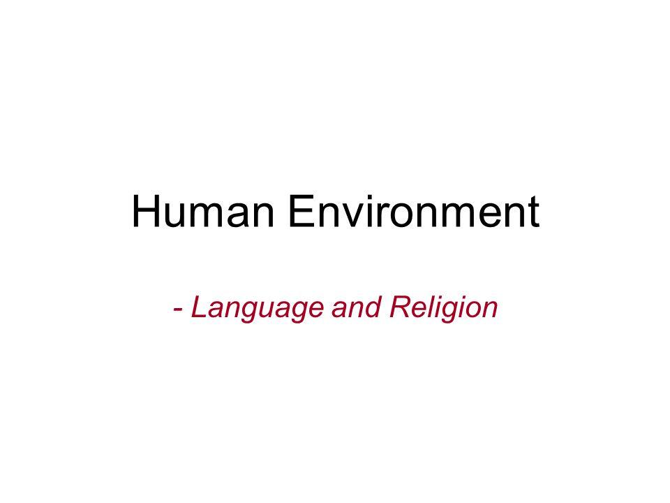 - Language and Religion