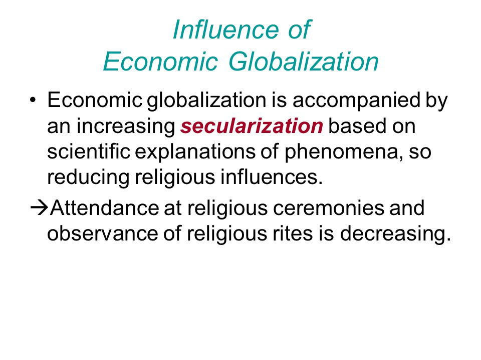 Influence of Economic Globalization