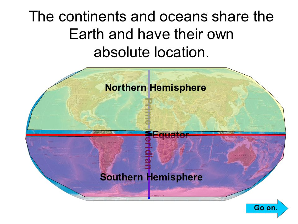 Learning about the earth ppt video online download the continents and oceans share the earth and have their own absolute location sciox Choice Image