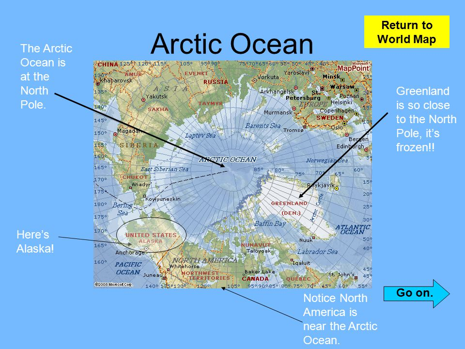 Learning about the earth ppt video online download arctic ocean return to world map gumiabroncs Choice Image