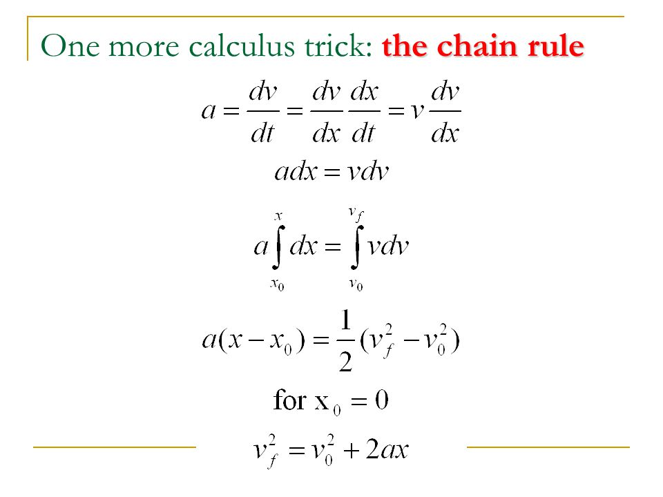One more calculus trick: the chain rule