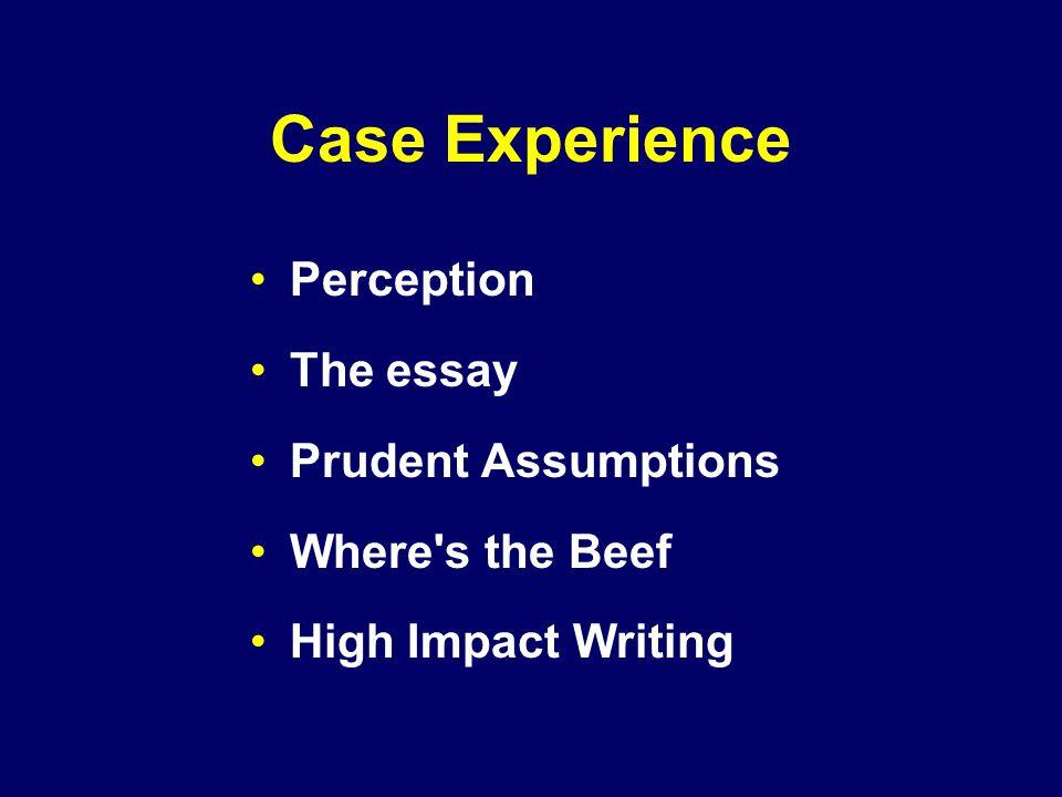 perception essay questions