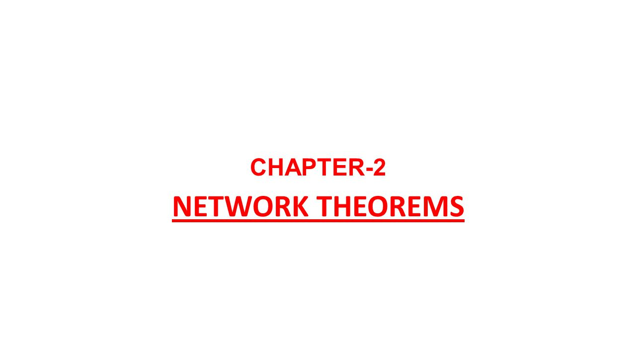 network theorms Network theorems - j r lucas the fundamental laws that govern electric  circuits are the ohm's law and the kirchoff's laws ohm's law.