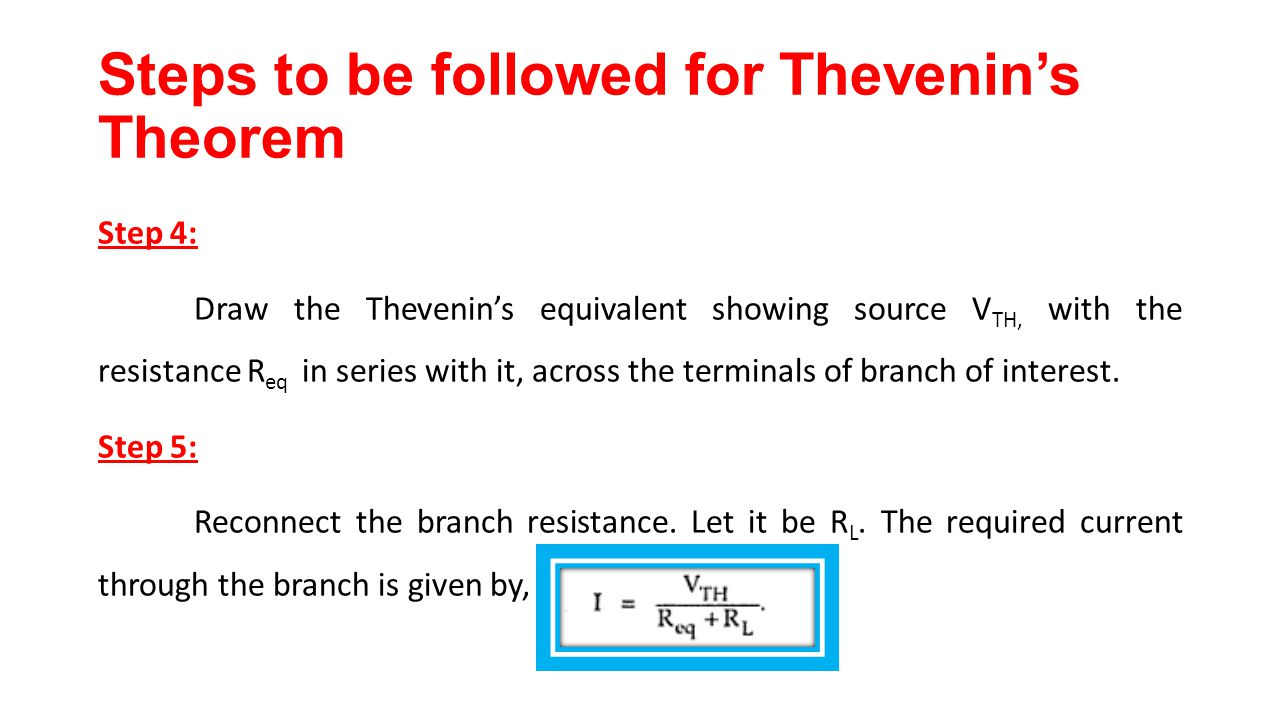 Thevenin Resistance Series Circuit Wiring Diagram For Professional Dc Norton Equivalent Example 3 Youtube Chapter 2 Network Theorems Ppt Video Online Download And Find Examples