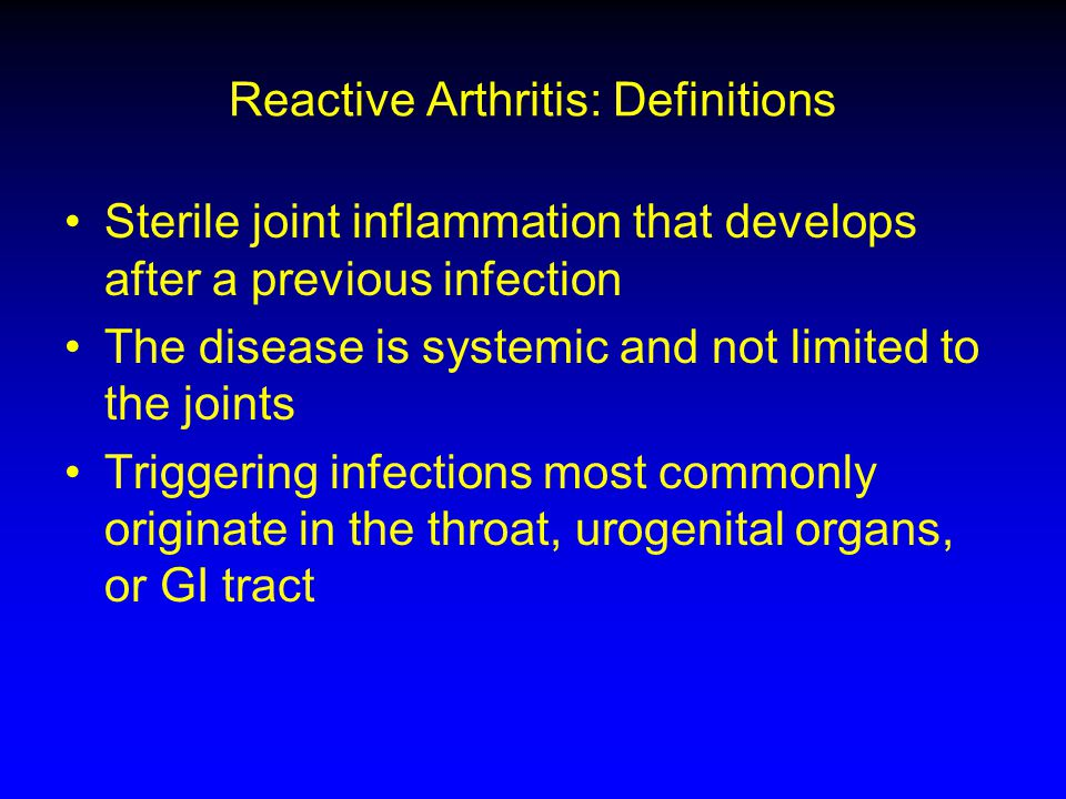 Spondyloarthropathies ...