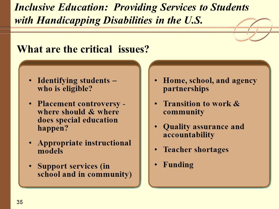the controversial issue of inclusion in todays education Check out the online debate inclusion in education.