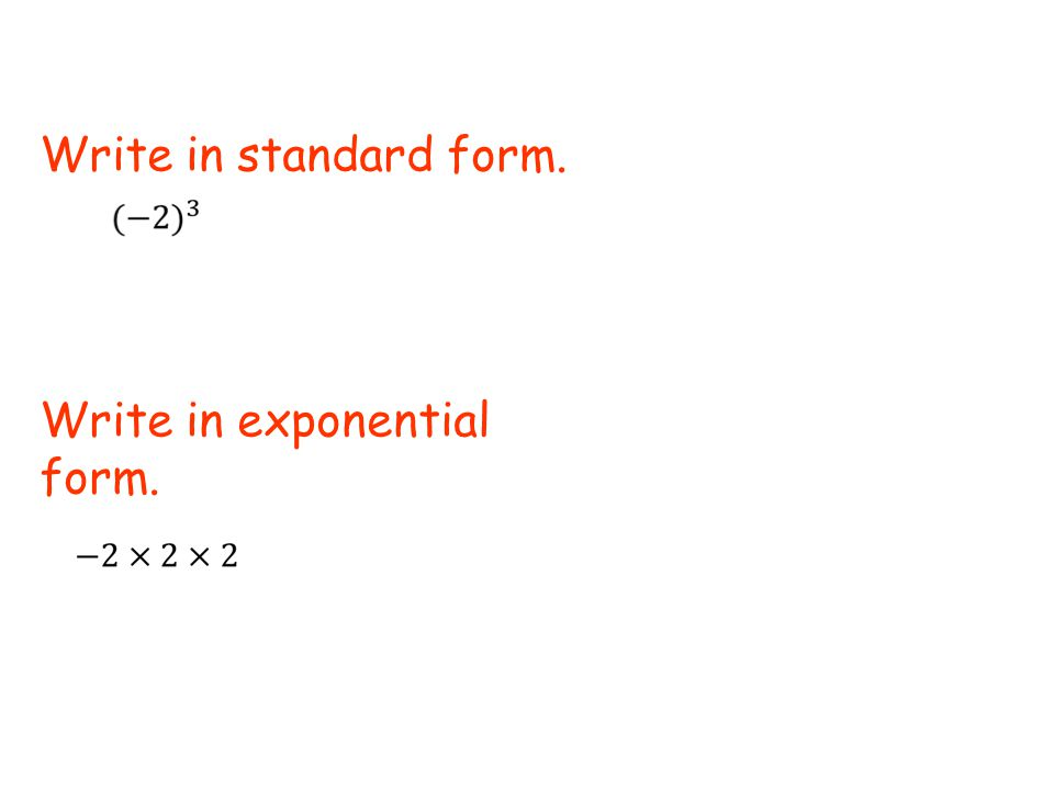 How To Write An Exponential Function In Standard Form