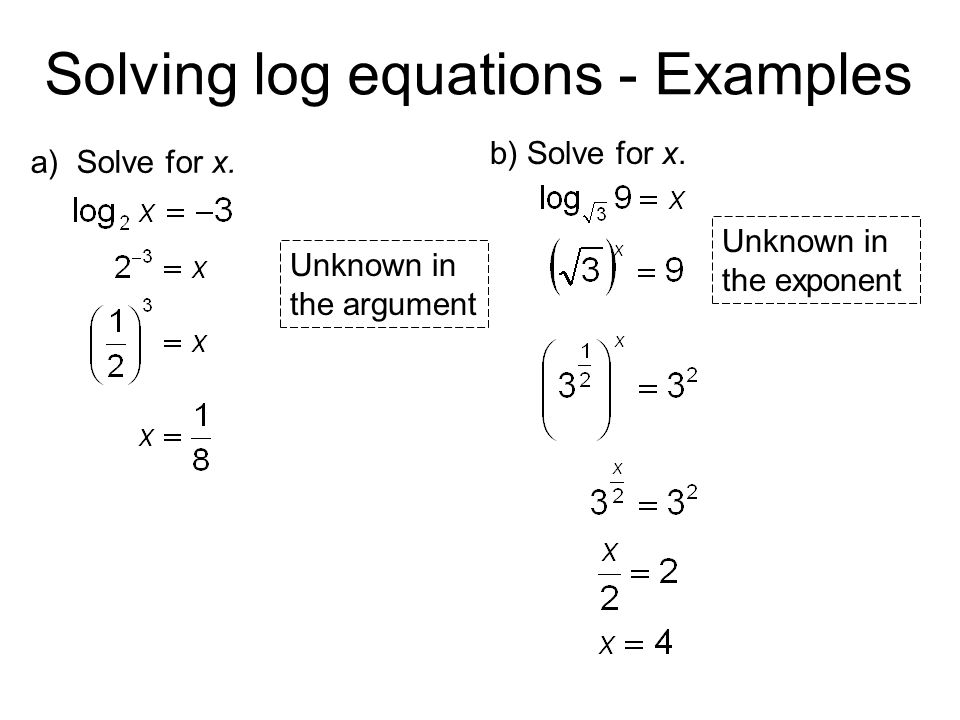 How To Solve A Log Problem