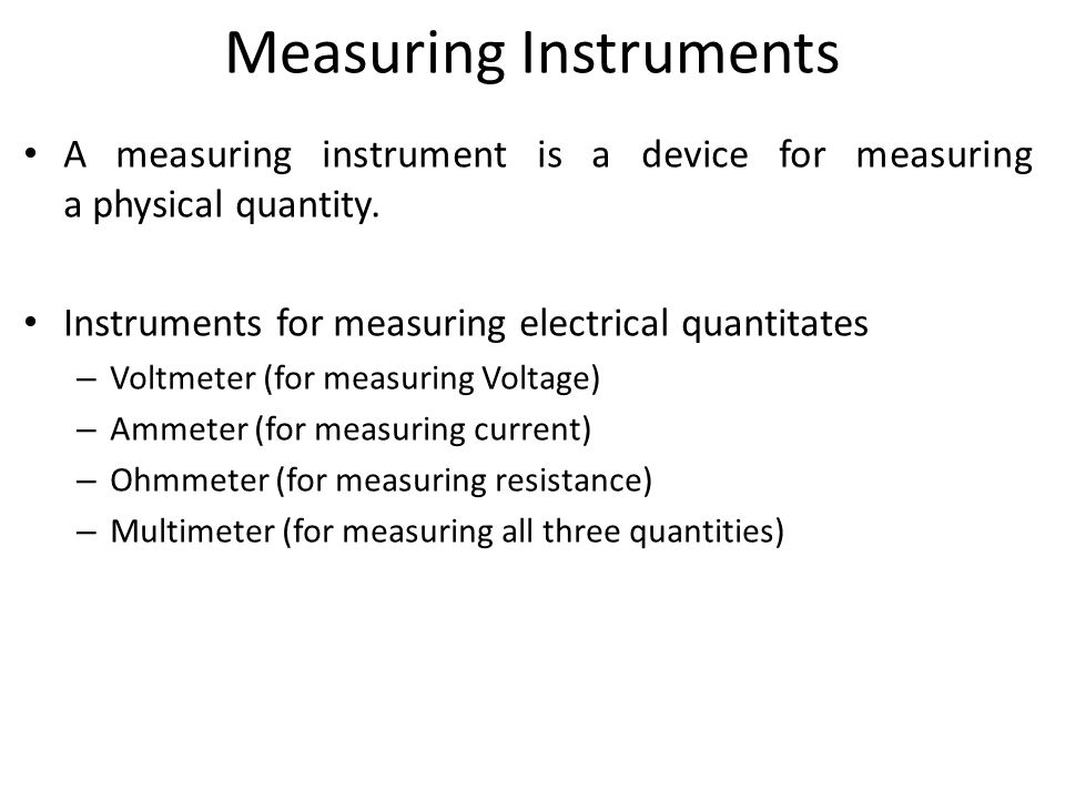 Physical Measuring Instruments : Electronic workshop lecture power supplies measuring