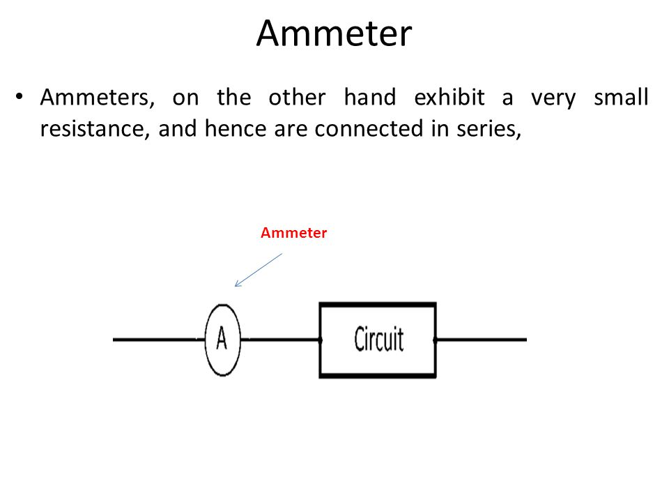 Where Are Ammeters Connected : Electronic workshop lecture power supplies measuring