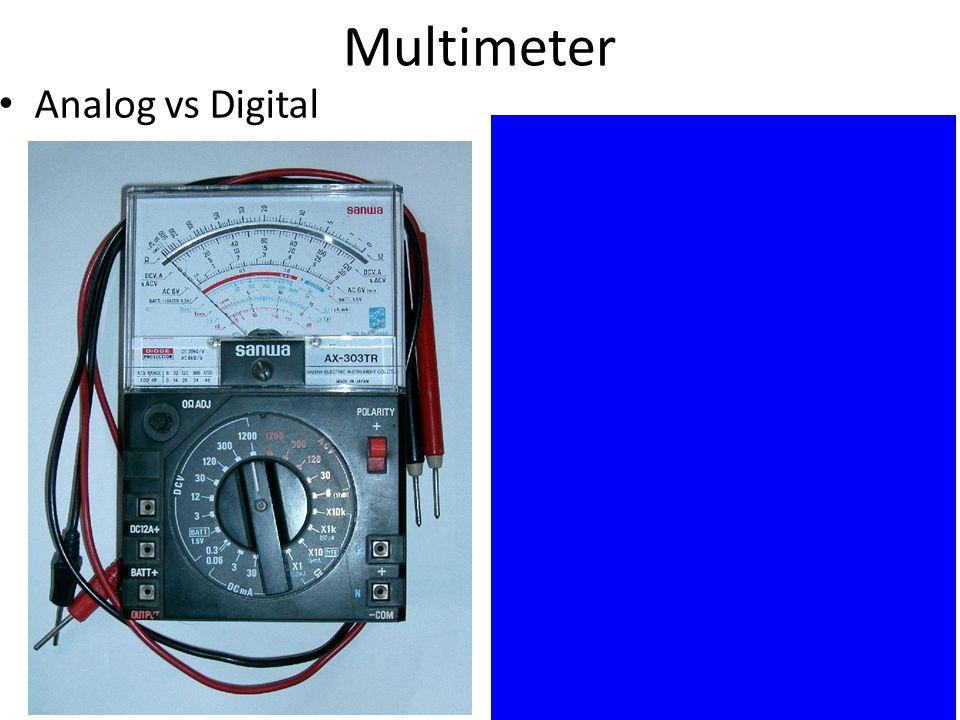 Digital Analog Multimeter : Electronic workshop lecture power supplies measuring