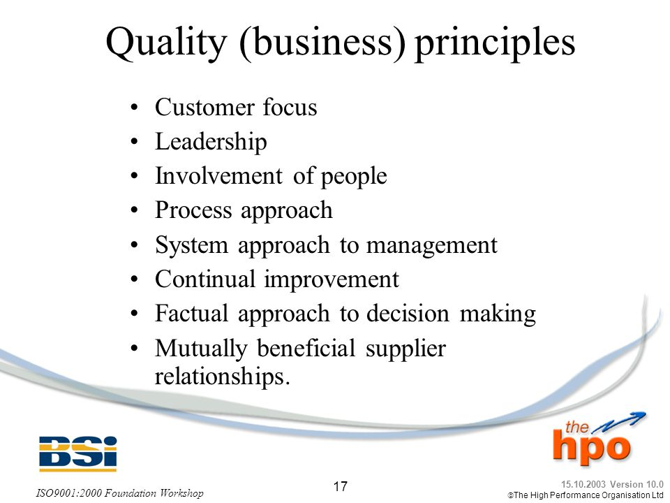 Quality (business) principles