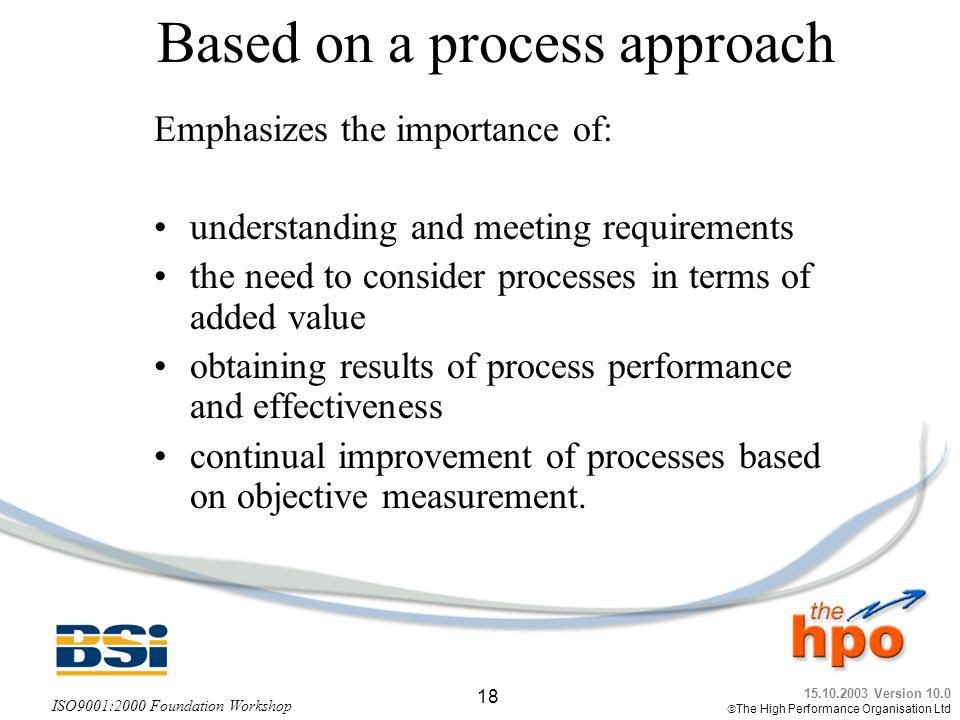 Based on a process approach