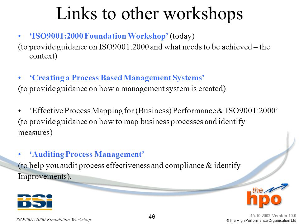 Links to other workshops