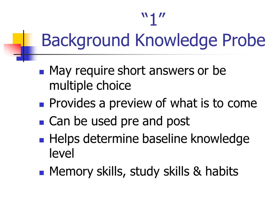 1 Background Knowledge Probe
