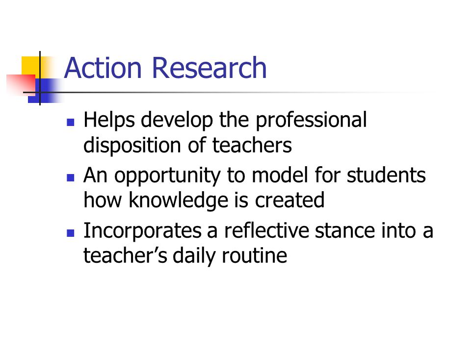 action research outline teaching for deep The last component of your action research paper is a reflective learning statement encompassing your complete experience the statement must present two aspects of your research first, the statement must summarize your experiences during the process and, second, the statement must summarize your overall learning during the process.