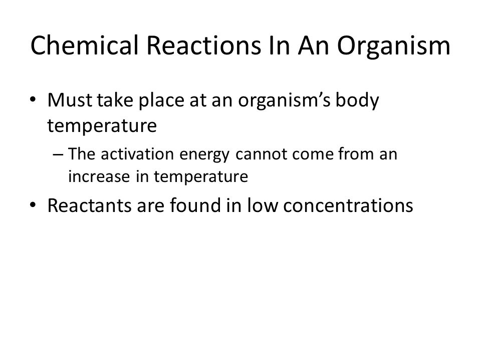 Chemical Reactions In An Organism