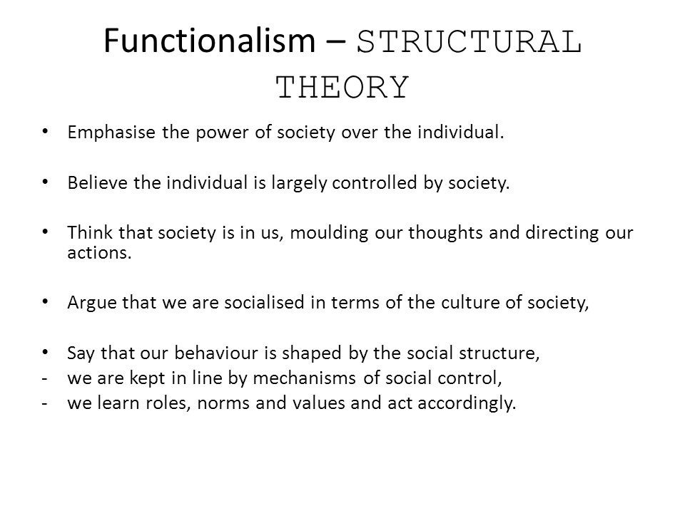 structural functionalism neo functionalism conflict theory How do structural functional and conflict the theories of federalism and neo-functionalism are structural functionalism, conflict theory.
