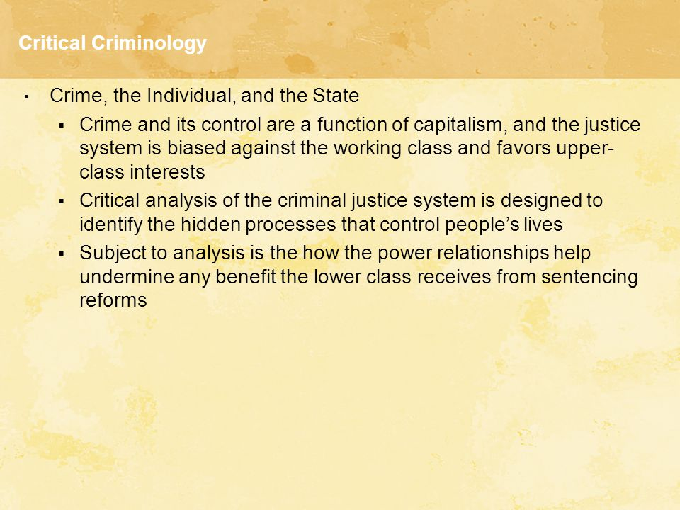 explain the relationship between criminology and criminal justice Theories abound on what causes a person to commit a crime some people don't  think it is a deviant behavior to break the speeding law, but.