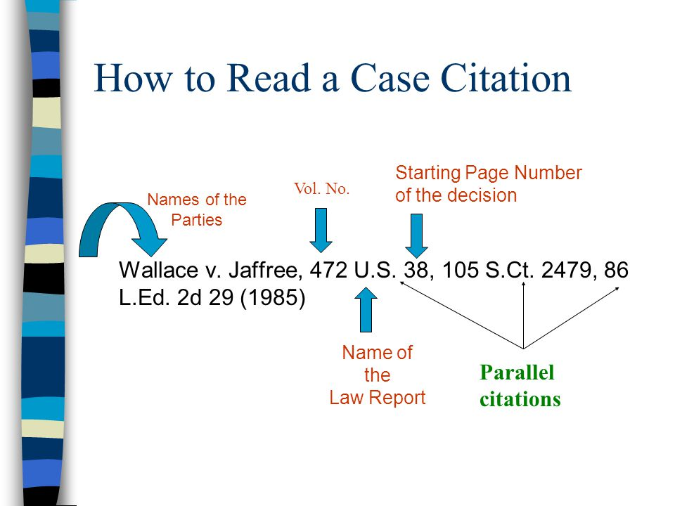 how to write a case report law
