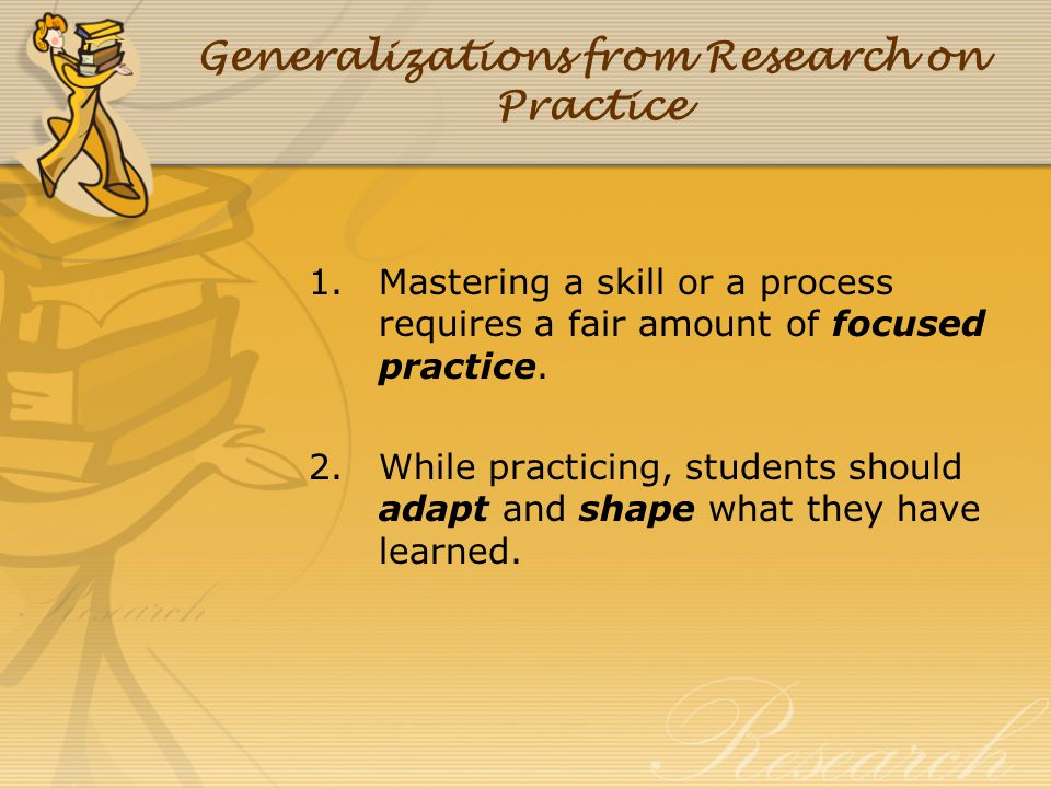 Generalizations from Research on Practice