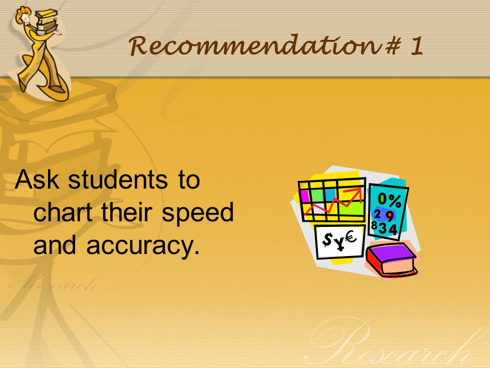 Ask students to chart their speed and accuracy.