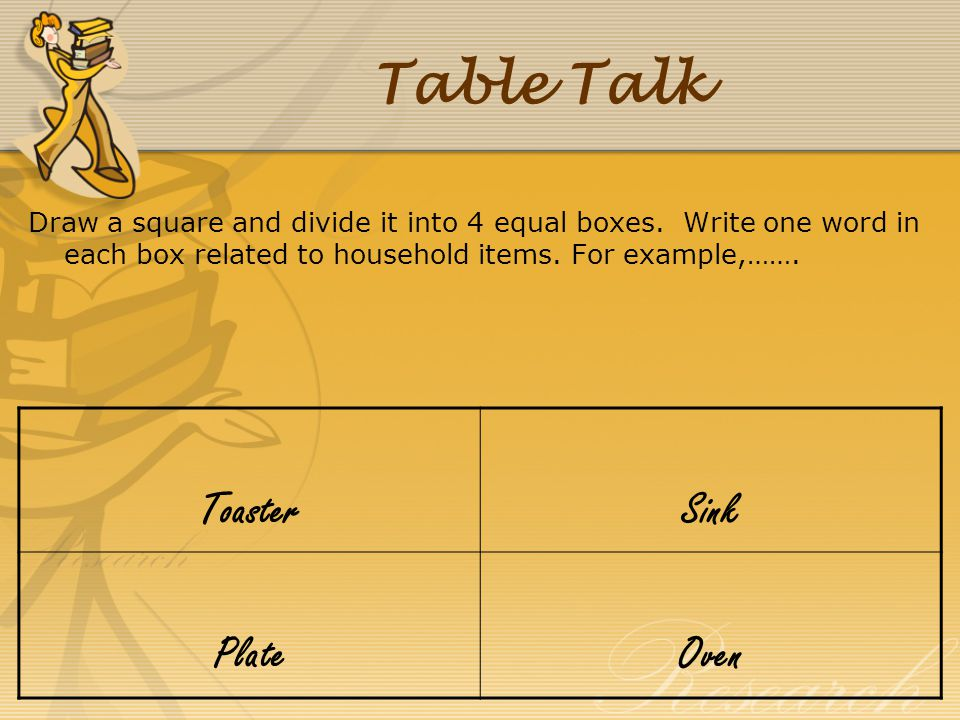 Table Talk Toaster Sink Plate Oven
