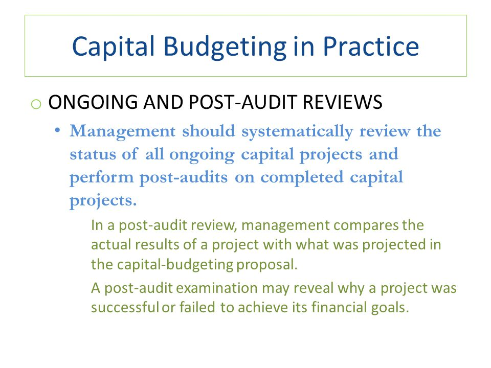 cango management and capital budgeting project