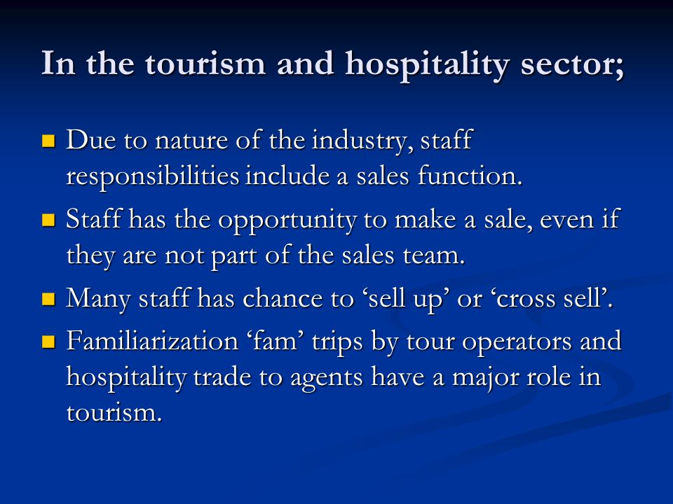 roles of team in hospitality Senior management teams: member roles and team effectiveness within large hospitality organisations master of business by research and major thesis.