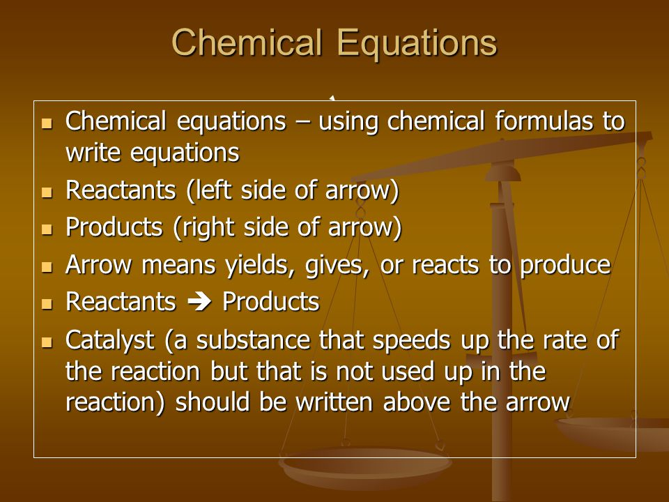 chemical equation how to write