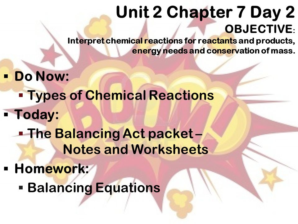 Chemical Reactions Chapter ppt download – Balancing Chemical Equations Chapter 7 Worksheet 1 Answers