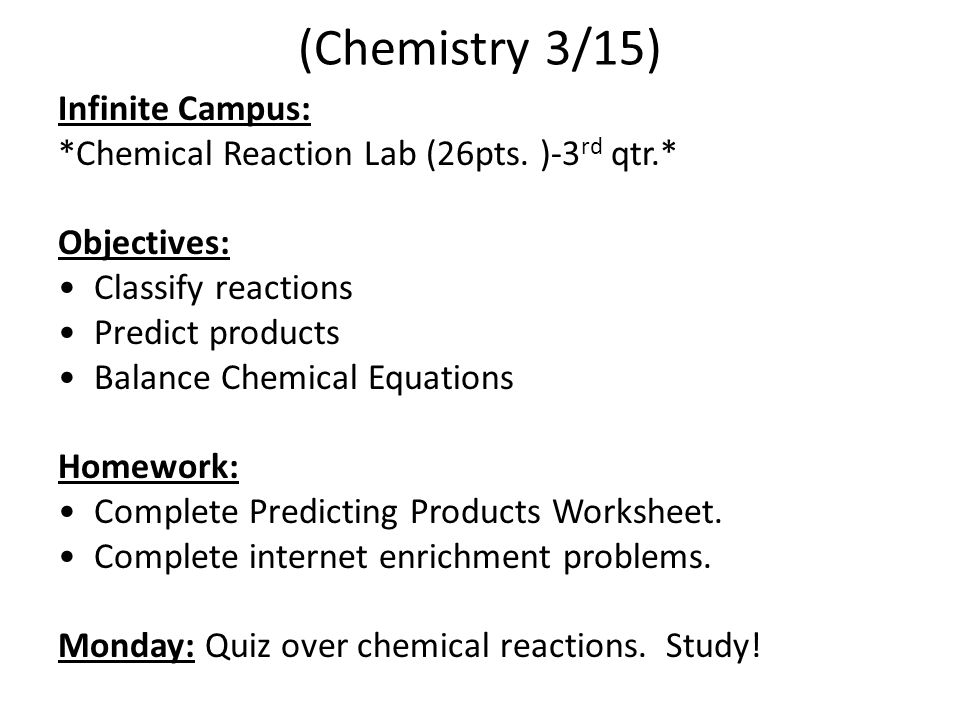 Chemical Reactions ppt download – Predicting the Products of Chemical Reactions Worksheet