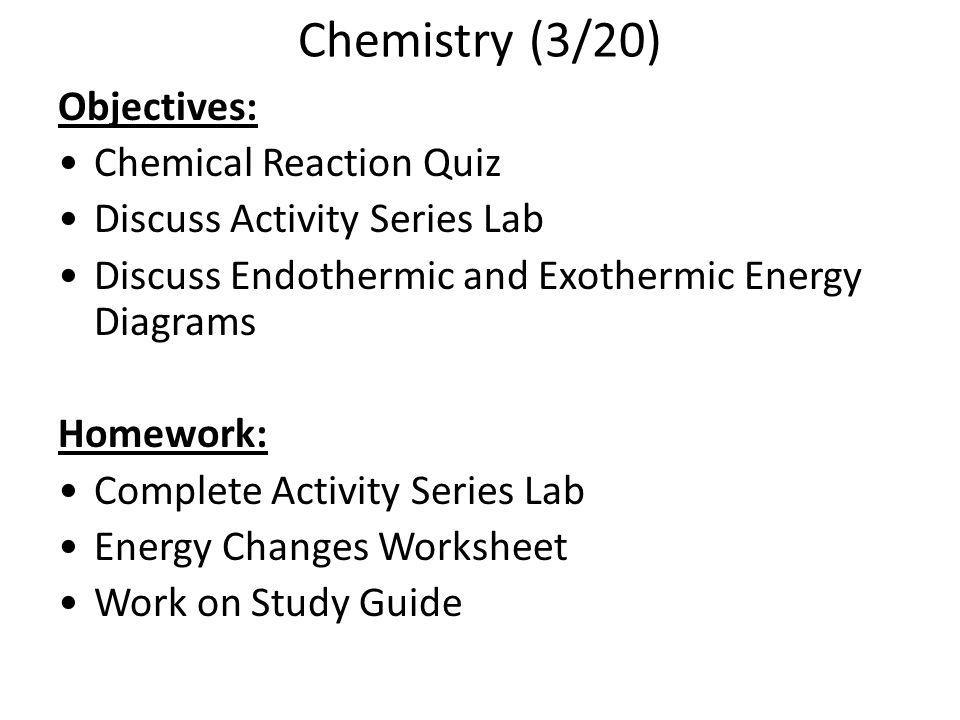 Chemical Reactions ppt video online download – Endothermic and Exothermic Reactions Worksheet
