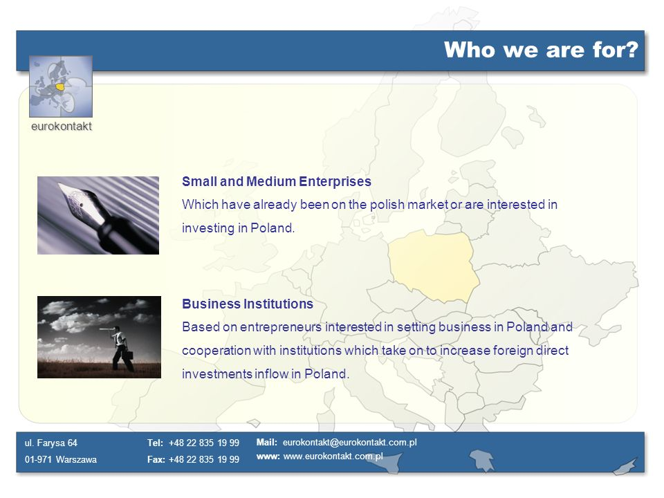 Who we are for Small and Medium Enterprises